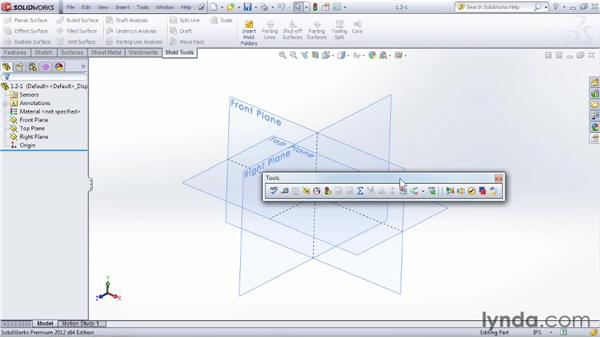 Accessing and customizing the Ribbon: SOLIDWORKS 2012 Essential Training