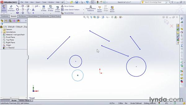 Touring the shortcut bar and identifying essential keys: SOLIDWORKS 2012 Essential Training