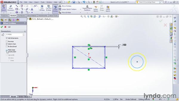 Creating offset geometry: SOLIDWORKS 2012 Essential Training