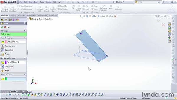 Working with planes: SOLIDWORKS 2012 Essential Training