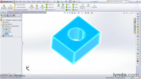 Extruding a sketch into a 3D object: SOLIDWORKS 2012 Essential Training