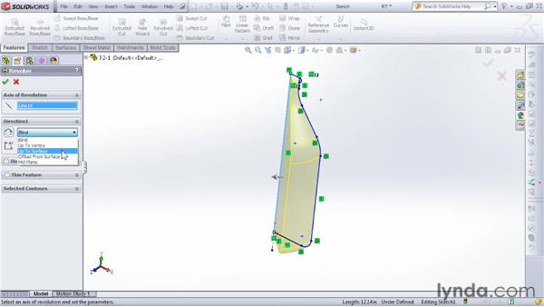 Using Revolve to create 3D parts around a circular axis: SOLIDWORKS 2012 Essential Training