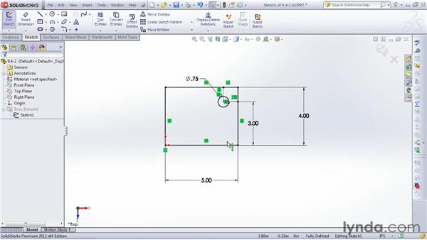 Mirroring objects: SOLIDWORKS 2012 Essential Training