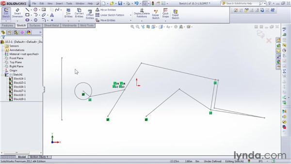 Designing with blocks: SOLIDWORKS 2012 Essential Training