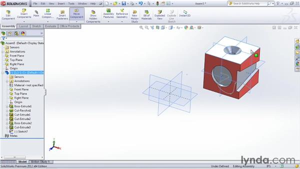 Understanding the tools for beginning a new assembly: SOLIDWORKS 2012 Essential Training