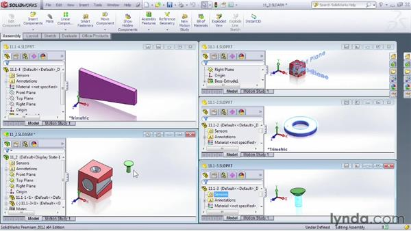 Identifying steps in creating an assembly: SOLIDWORKS 2012 Essential Training