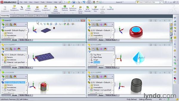 Working with subassemblies: SOLIDWORKS 2012 Essential Training