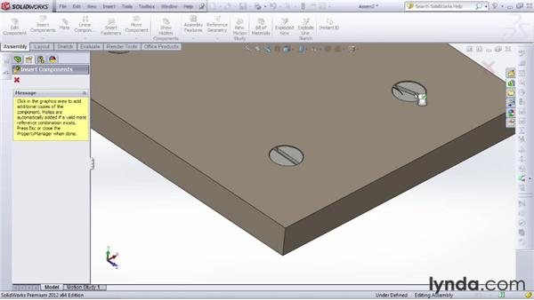 Working with pre-made parts bundled with SOLIDWORKS Professional and SOLIDWORKS Premium: SOLIDWORKS 2012 Essential Training