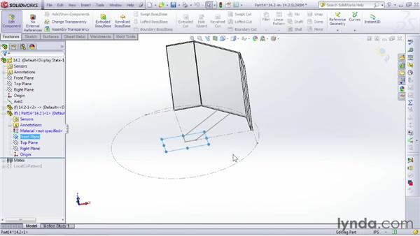 Linking to layout sketches: SOLIDWORKS 2012 Essential Training