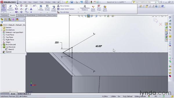 Understanding internal and external threads: SOLIDWORKS 2012 Essential Training