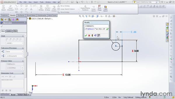 Working with complex calculations: SOLIDWORKS 2012 Essential Training
