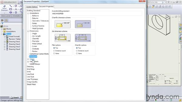 Setting up drawing options and sheet properties: SOLIDWORKS 2012 Essential Training