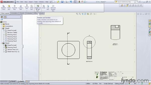 Adding model views to a drawing: SOLIDWORKS 2012 Essential Training