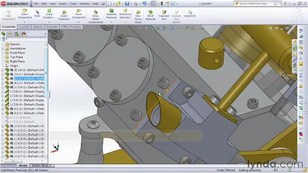 Adding assemblies to drawings: SOLIDWORKS 2012 Essential Training