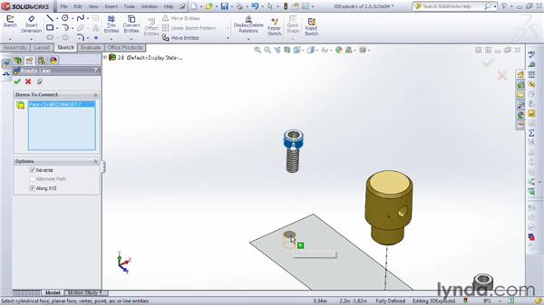 Building an exploded view for an assembly drawing: SOLIDWORKS 2012 Essential Training