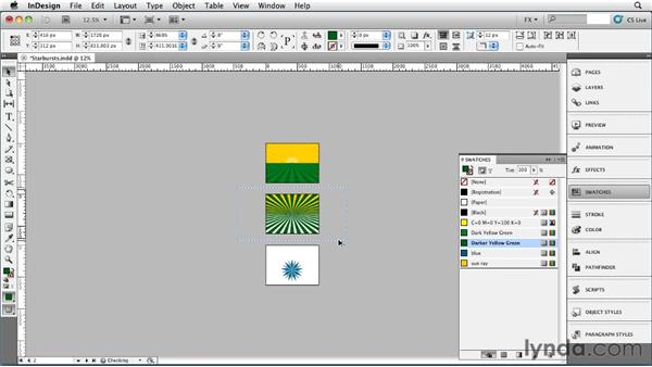 031 Drawing Star Bursts: InDesign FX