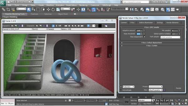 Using the DMC Sampler: V-Ray 2.0 for 3ds Max Essential Training