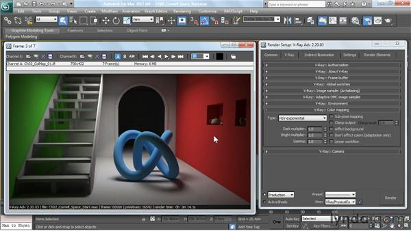 Understanding the color-mapping modes: V-Ray 2.0 for 3ds Max Essential Training