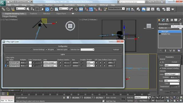 Creating a mesh light: V-Ray 2.0 for 3ds Max Essential Training