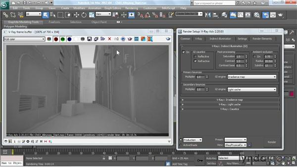 Creating a skylight effect: V-Ray 2.0 for 3ds Max Essential Training