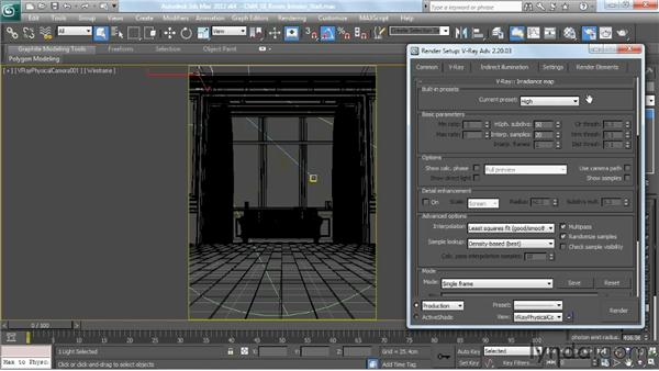 Using irradiance mapping, part 1: V-Ray 2.0 for 3ds Max Essential Training