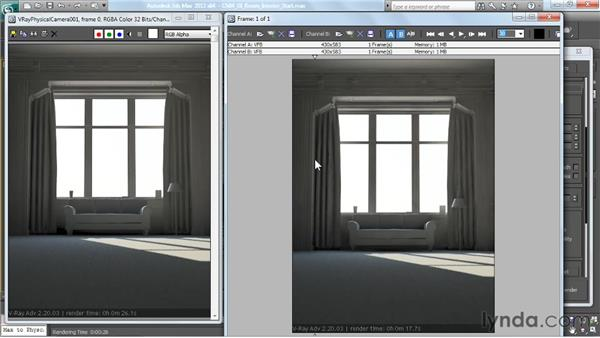 Using irradiance mapping, part 2: V-Ray 2.0 for 3ds Max Essential Training