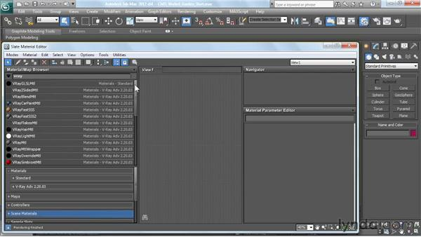 Introduction to V-Ray-specific materials: V-Ray 2.0 for 3ds Max Essential Training