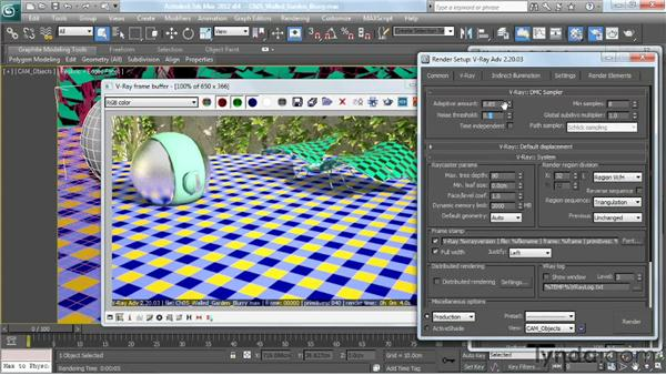 Blurring reflections: V-Ray 2.0 for 3ds Max Essential Training
