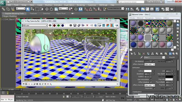 Making clear and colored glass: V-Ray 2.0 for 3ds Max Essential Training