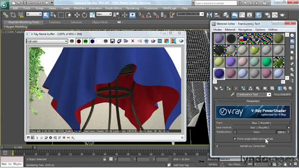 Creating a translucency effect: V-Ray 2.0 for 3ds Max Essential Training