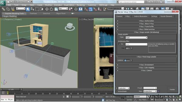 Using the Fixed-Rate sampler: V-Ray 2.0 for 3ds Max Essential Training