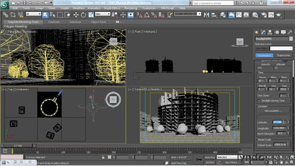 Working with VRaySun and VRaySky: V-Ray 2.0 for 3ds Max Essential Training