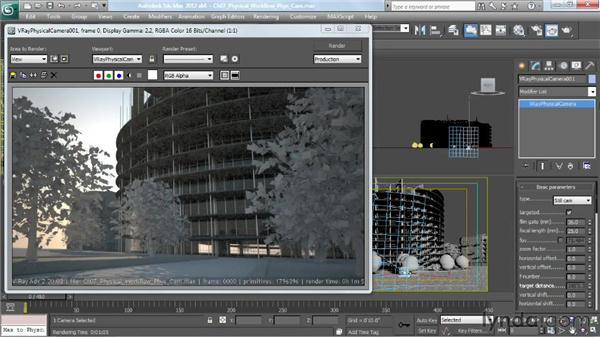 Controlling the VRayPhysicalCamera: V-Ray 2.0 for 3ds Max Essential Training