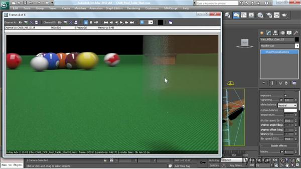 Creating a motion blur effect: V-Ray 2.0 for 3ds Max Essential Training