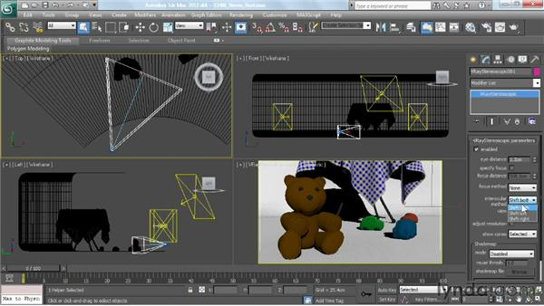 Stereoscopic 3D rendering: V-Ray 2.0 for 3ds Max Essential Training
