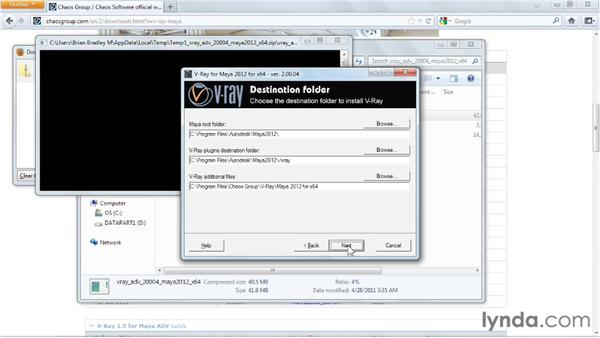 Installing V-Ray: V-Ray 2.0 for Maya Essential Training