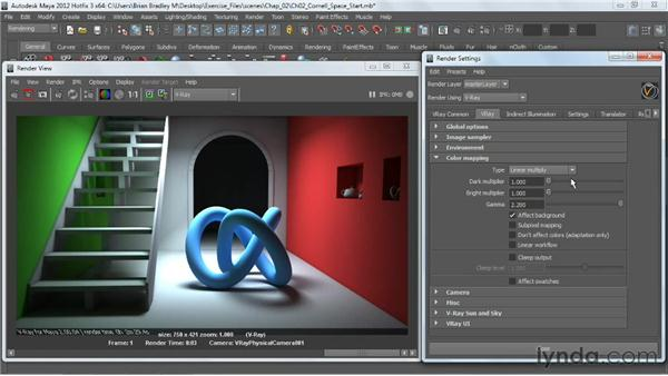 Overview of color mapping: V-Ray 2.0 for Maya Essential Training