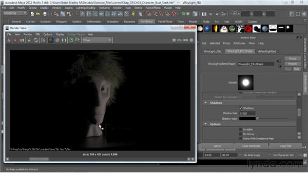 Adding a spherical fill light: V-Ray 2.0 for Maya Essential Training