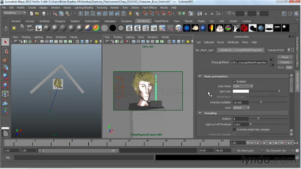 Creating a mesh light: V-Ray 2.0 for Maya Essential Training