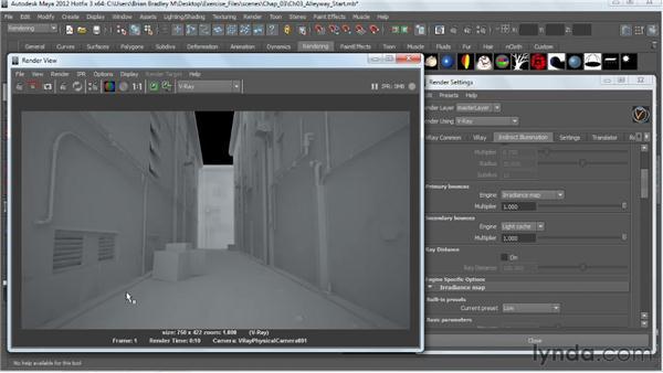 Creating a skylight effect: V-Ray 2.0 for Maya Essential Training