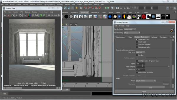: V-Ray 2.0 for Maya Essential Training