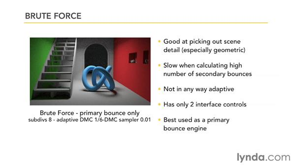 Understanding brute force GI: V-Ray 2.0 for Maya Essential Training