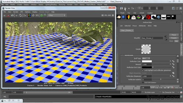 Making reflective materials: V-Ray 2.0 for Maya Essential Training