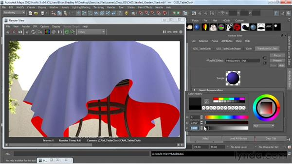 Creating a translucency effect: V-Ray 2.0 for Maya Essential Training