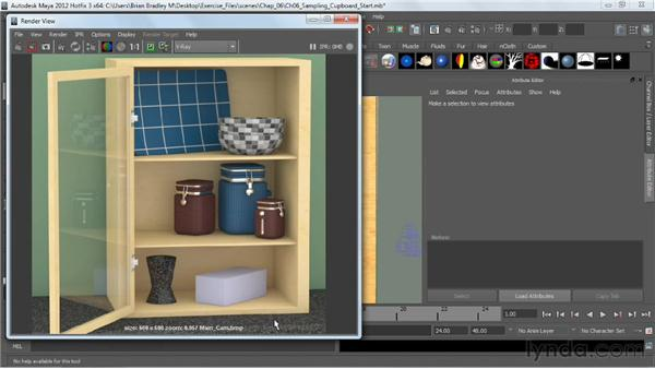 Introduction to image sampling: V-Ray 2.0 for Maya Essential Training