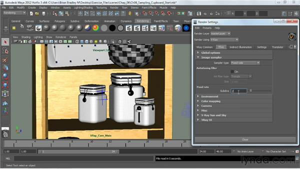 Using the Fixed-Rate sampler: V-Ray 2.0 for Maya Essential Training