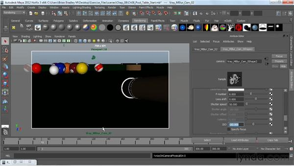 Creating a motion blur effect: V-Ray 2.0 for Maya Essential Training