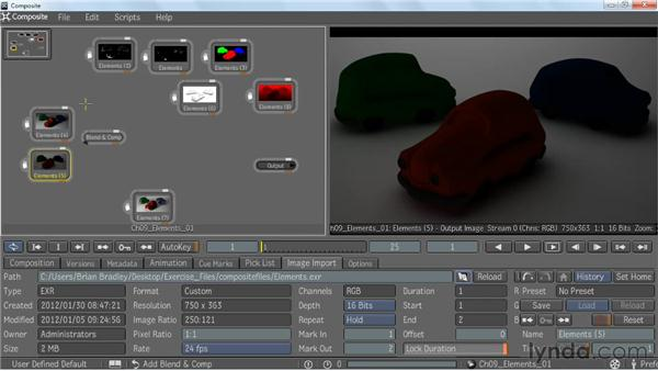 Compositing V-Ray elements: V-Ray 2.0 for Maya Essential Training