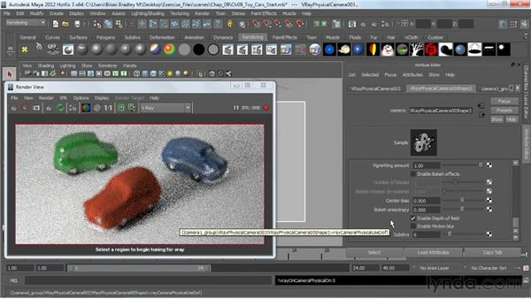 Demonstrating the RT workflow: V-Ray 2.0 for Maya Essential Training