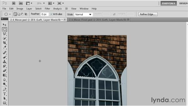 Moving a selection: Practical Photoshop CS5 Selections